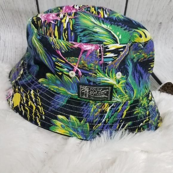 5e35c60615b86 Ralph Lauren Reversible Bucket Hat Flamingo Sz S/M NWT